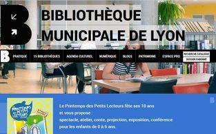 Vignette miniature d'une capture d'écran du site de la Bibliothèque municipale de Lyon