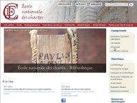 Vignette miniature du site web de l'Ecole nationale des chartes