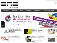 Vignette miniature d'une capture d'écran du site web de l'ENS