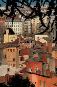 Photo des toits du vieux lyon